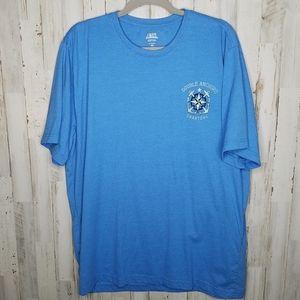 Izod Saltwater Tshirt Blue Short Sleeve Unisex XXL